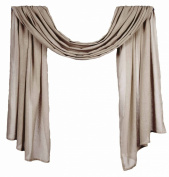 Home Collection by Raghu Heirloom Window Scarf, 110cm by 300cm , Oat