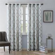 Ink+Ivy Ankara Window Curtain - Aqua - 210cm Panel