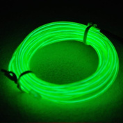 Lychee® Neon Glowing Strobing Electroluminescent Light El Wire w/ Battery Pack for Parties, Halloween Decoration