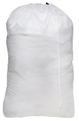 """Nylon Laundry Bag - White, 30"""" x 40"""" - Sturdy rip and tear resistant nylon material with drawstring closure. Ideal machine washable nylon laundry bags for college, dorm and apartment dwellers."""
