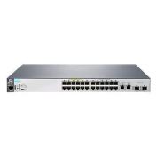 HP 2530-24-PoE+ L2 Managed Ethernet Switch, 24 Port RJ-45 10/100 PoE+, 2 Port RJ-45 GbE, 2 Port SFP