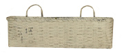 Your Hearts Delight 22-1/2 by 24cm by 13cm Oval Hanging French Basket, Long, Whitewash