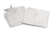 Medline Industries NON24265 Disposable Slip-On Adult Bibs, 48cm x 90cm , White