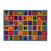 Fun Rugs Fun Time Collection Home Kids Room Decorative Floor Area Rug Numbers & Letters -130cm x 200cm