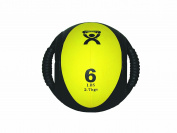 CanDo 10-3185 Dual Handle Medicine Ball, 23cm Diameter, 5 Piece Set, Yellow/Red/Green/Blue/Black