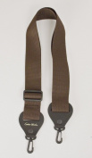 Banjo Strap Brown Nylon Solid Leather Ends Quick Action Clip On Ends High Quality Made In U.S.A. Fast Handling & Shipping