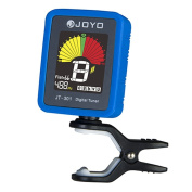 Joyo JT-301 Clip-on Electric Digital Tuner Colour Screen with Silica Gel Cover for Guitar Chromatic Bass Violin Ukulele Universal Portable