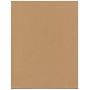 JAM Paper® 8 1/2 x 11 Cardstock - 36kg Passport Recycled Ginger Brown - 50 sheets per pack