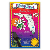 FLORIDA STATE MAP postcard set of 20 identical postcards. Post cards Made in USA.