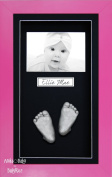 BabyRice 3D Baby Casting Kit Silver Paint with Pink Display Photo Frame