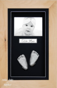 BabyRice 3D Baby Casting Kit Silver Paint with Beech Wood Display Photo Frame