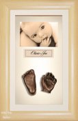 BabyRice 3D Baby Casting Kit Bronze Paint with Beech effect Display Photo Frame