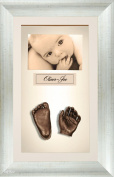BabyRice 3D Baby Casting Kit Bronze Paint with Antique Bronze effect Display Photo Frame