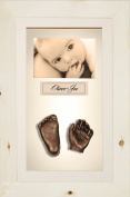 BabyRice 3D Baby Casting Kit Bronze Paint with Natural Pine Display Photo Frame