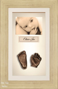 BabyRice 3D Baby Casting Kit Bronze Paint with Oak effect Display Photo Frame