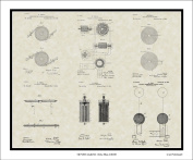 Nikola Tesla Patent Collection Art | Framed Print Gift