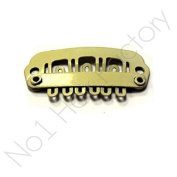 x 30 Hair Extension Snap Clips for Wig Weft 23mm / 2.3cm Beige