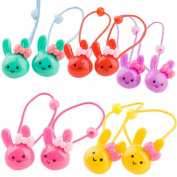 cuhair(TM) fashion 10pcs (2pcs/colour) girl baby kids elastic hair ponytail holders hair tie bands rubber rope acessories