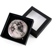 Angel with Pastel Grey and Pink Tones Compact Mirror
