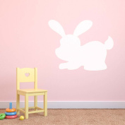 Supertogether Small Version 4 Bunny Dry Wipe Whiteboard Childrens Bedroom Playroom Wall Sticker, White