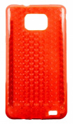 Silicone Gel Cover with Leather Effect for Samsung Galaxy S2 I9100 Various Colours