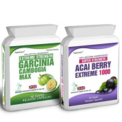 Body Smart Herbals - 90 Garcinia Cambogia 60 Acai Berry Extreme Weight Loss Slimming Diet Pills