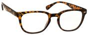 UV Reader Brown Tortoiseshell Near Sighted Distance Glasses For Myopia Designer Style Mens Womens Inc Case UVMR014 Strength -1.00