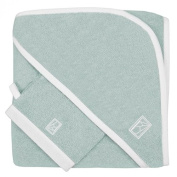 Bailet BE001SB-VE02BIBC01 Dragonfly Glove and Square Bath Towel Combed Cotton Green 16 x 21 cm and 80 x 80 cm
