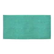 Bailet B005SD VE04 Flora-Combed Cotton Bath Towel 50 x 100 cm Turquoise
