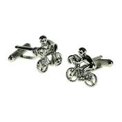 Onyx-Art London Novelty Cufflinks - Racing Cyclist