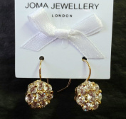 CECE Earrings - Silver plated gold colour sparkly crystal drop earrings - nickel free - Joma Jewellery with Gift bag