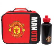 Manchester United Football Club - Wordmark Lunch Bag & Aluminium Bottle