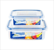 2 Clip & Lock Airtight Kitchen Food Container Tupperware Set.