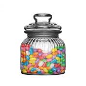 Amazing New Ribbed Glass Jars Storage Jars Tea Coffee Sugar Food Sweet Biscuit Jars