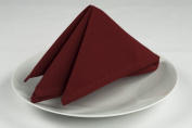 Riegel Premier 100-Percent Polyester 50cm by 50cm Napkins, Burgundy, 8-Pack
