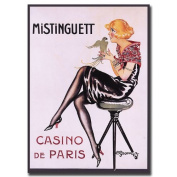 Trademark Fine Art Mistinguett Casino de Paris by Charles Gesmar Canvas Wall Art, 36cm x 48cm