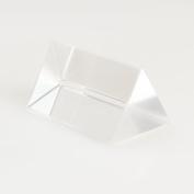 Vktech 5.1cm 5.1cm Optical Glass Triple Triangular Prism Refractor Physics Experiment