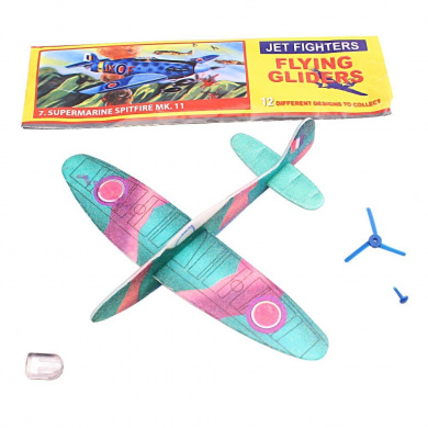 5 x WWII Planes Flying Glider Ideal Children Party Bag Fillers / Game Prizes - 99p