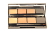 IB Infinitive Beauty Professional Compact 4 Part Eyebrow Eye Brow Powder Palette Kit With Mirror & Brush- 4 Shades & Colours
