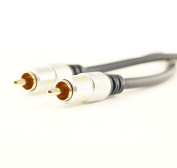 Ex-Pro® - ProAV OFC Gold - Digital Coax SPDIF Audio / Composite Audio Video Cable - 1m [100cm]
