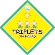 Triplets On Board, Triplets On Board Sign, Triplets on Board Car Sign, Baby on Board Sign, Baby on Board, Decal, Triplets, Twins, Triplet Sign