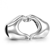 Soufeel 925 Sterling Silver Mother day Fingers With Hearts Charm Fit Fits European Charms Bracelets