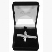 Pewter Cricket Cricketer Tie Slide, Wedding, Best Man, Usher