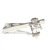 Retro Robot Tie Clip - Rhodium Plated - Gift Boxed