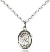 Sterling Silver St. Louise de Marillac Pendant with 46cm Stainless Steel Lite Curb Chain. Patron Saint of Orphans/Social Workers