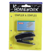 [Bulk Pack] A+ Homework 3 Sets of Black Mini Stapler with 500 Size 10 Staples - Stationery Supplies for the Home, Office, or Classroom