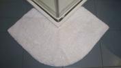 Luxury White Microfibre Non Slip Quadrant Corner Shower Mat