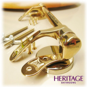 Heritage Replacement Wooden WC Seat Bar Hinge Set only in Timeless Gold