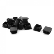 15 Pieces Black Plastic Blanking End Caps Tube Inserts 30mm x 30mm