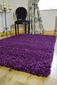 EXTRA LARGE PURPLE MEDIUM NEW MODERN SOFT THICK SHAGGY RUGS NON SHED RUNNER MATS 80 X 150 CM FREE UK MAINLAND DELIVERY